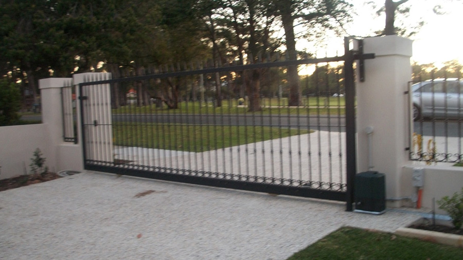 Automated Sliding Amp Pedestrian Gates Perth Marchants